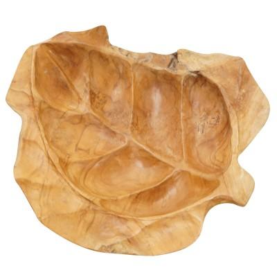 Deko- Schale Blatt oval
