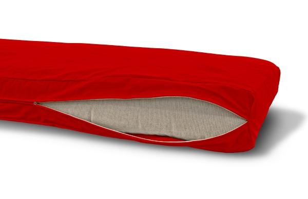 Futonbezug (Cover) 80x190 cm, Höhe 16 cm Rot