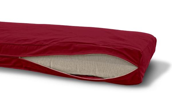 Futonbezug (Cover) 120x200 cm, Höhe 18 cm Hellbordeaux