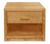 Vorschau: Nachttisch Aurelio mit Schublade und Ablage (Typ 4)