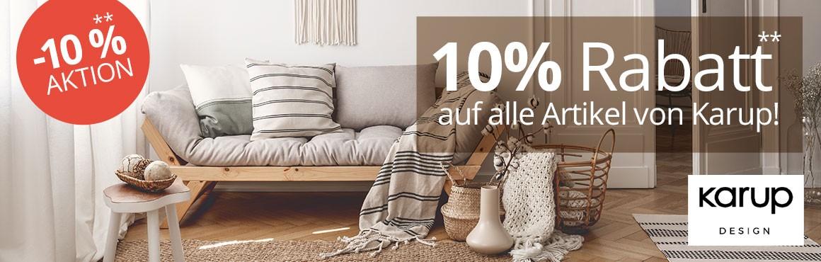 10 % Rabatt auf alle Produkte von Karup bis 17.02.19