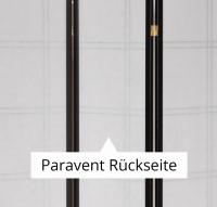 Vorschau: Paravent Doublecross Schwarz 4 teilig