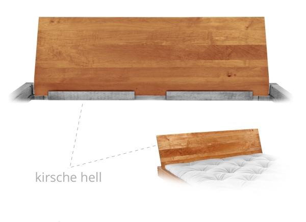 Lehne durchgehend Form E 100 cm Erle massiv Kirsche hell