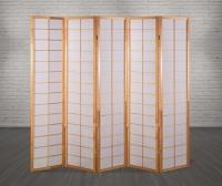 Vorschau: Paravent Japan Traditional Natur 5 teilig